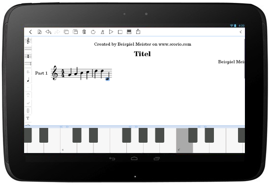 keyboard note insert